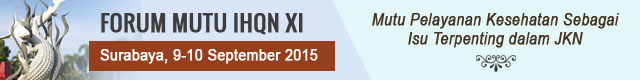 Forum Mutu IHQN XI 9-10 September 2015